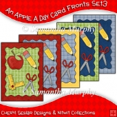 An Apple A Day 5 Card Fronts Set 3