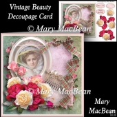Vintage Beauty Decoupage Card Front