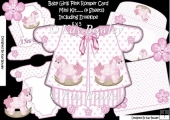 Baby Girls romper suit in pink with rocking horses kit