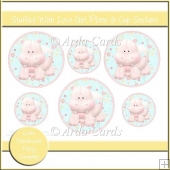 Stuffed With Love Girl Plate & Cup Stickers