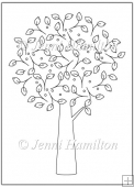 Spring Tree Digital Stamp/Line Art