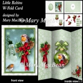 Little Robins - W-Fold Card