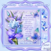 BLUSH OF IRIS & MOTHER VERSE BLUE 7.8 Decoupage & Insert Kit