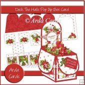 Deck The Halls Pop Up Box Card