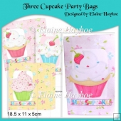 Three Cupcake Party Bags
