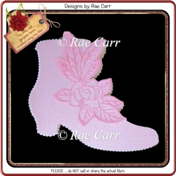 964 Ladies Boot Shaped Card Multiple MACHINE Formats