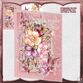 Summer Rose card front and decoupage