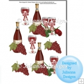 Celebration Drinks Decoupage Sheet