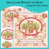 Berry Good Friend Card Front with Pyramage