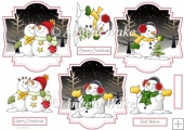 Snowmen at Christmas toppers