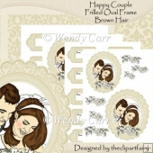 Happy Couple Frilled Oval Frames BROWN HAIR(Retiring in July)