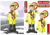 Christmas Lollipop Man Dude With Matching Insert