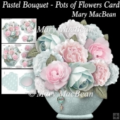 Pastel Bouquet - Pots of Flowers Card