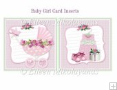 Cottage Chic Baby Girl Card Inserts