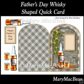 Father's Day Whisky Shaped Quick Card.