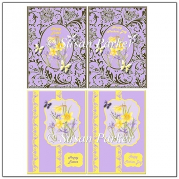 4 Quick Cards For Easter and Mothers Day Cards