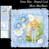 Daisy Blue - Shaped Card