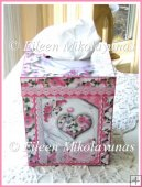 Hearts and Flowers Cottage Chic Valentine Kleenex Box Cover