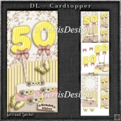 Vintage DL 50th Birthday Topper Cardkit 1294