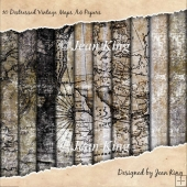 10 Distressed Vintage Maps A4 Papers