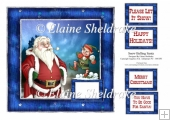 Snow Balling Santa - Card Topper & Assorted Greetings