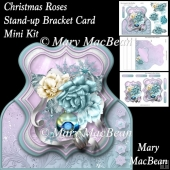 Christmas Roses - Stand-up Bracket Card Mini Kit