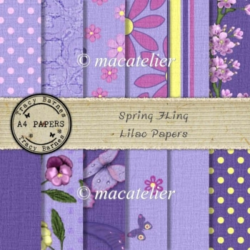 Spring Fling Lilac Papers