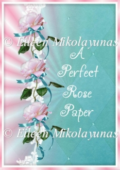 A Perfect Rose Backing Background Paper