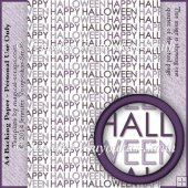 A4 Backing Paper - Happy Halloween Text 3