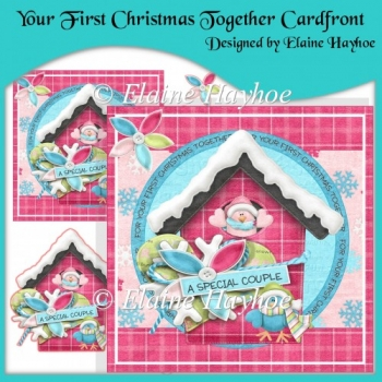 Your First Christmas Together Cardfront with Decoupage