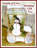 Season of Love Christmas Snowman Stocking Favor / Gift Box