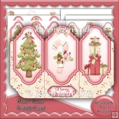 Heart Christmas Trifold Card