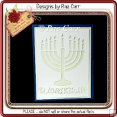 620 Hanukkah Card *Multiple MACHINE Formats*
