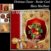 Christmas Cluster - Border Card