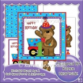 Birthday Benny 1 6x6 Card Front And Decoupage