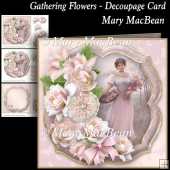 Gathering Flowers - Decoupage Card