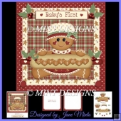 BABY'S FIRST CHRISTMAS - GINGERBREAD GIRL CARD KIT