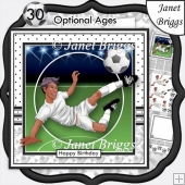 FOOTBALL STRIKER Ethnic 7.5 White Soccer Decoupage Ages