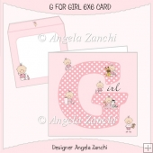 G FOR GIRL 6X6 BABY CARD