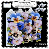 Pansy Perfection - Concertina Card Kit With Greetings Tags and M