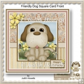 Friendly Dog Square Card Front