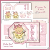Baby Girl Octag Card