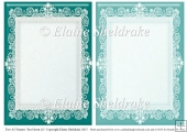 2 x A5 Sea Green (1) Lace Frames for Card Making & Scrapbooking