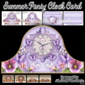 Summer Pansy Clock Card & Envelope