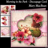 Morning in the Park - Decoupage Card