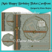 Male Happy Birthday Ticket Cardfront