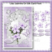 Lilac Jasmine On Silk Card Front