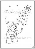 Christmas Ted - Shooting Star Digital Stamp