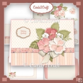 Shades of peach landscape card set