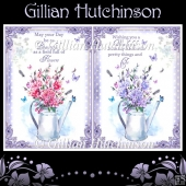Watering Can Birthday Card Fronts Set 2